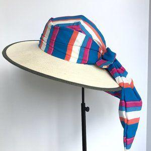 NWT San Diego Hat Co. Wide Rim Summer Hat w/ Scarf